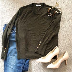 NWOT Zara deep green sweater